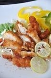 Stycken av djupa Fried Chicken Royaltyfri Foto