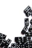 Stycken av dominobricka Fotografering för Bildbyråer
