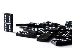 Stycken av dominobricka Arkivfoton