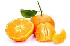 Stycken av en clementine Arkivbilder