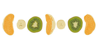 Stycken av frukt Arkivbilder