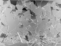 Stycken av glass brutet eller sprucket p? vit vektor illustrationer