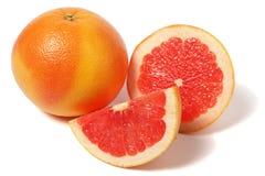 Stycken av grapefrukten Arkivfoto
