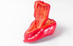 Stycken av röd peppar Arkivbilder