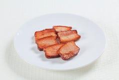 Stycken av salt griskött Royaltyfria Foton