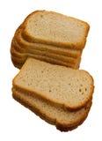 Stycken av vitt bröd för att rosta Fotografering för Bildbyråer