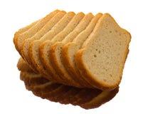 Stycken av vitt bröd för att rosta Arkivfoto
