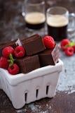 Stycken för chokladfuskverk Royaltyfri Fotografi