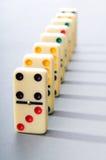 stycken för dominoeffekt Arkivbilder