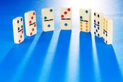 stycken för dominoeffekt Arkivbild