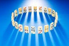 stycken för dominoeffekt Royaltyfri Foto