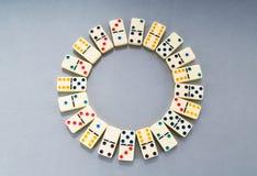 stycken för dominoeffekt Royaltyfri Bild