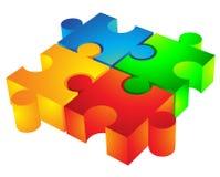 stycken för jigsaw 3d Arkivfoto