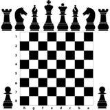 Stycken för schackbräde Royaltyfri Foto