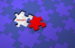 Stycket av ett pussel till framgång, avslutar ditt arbete lyckat Arkivbild