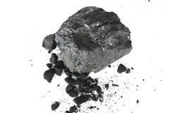 Stycket av kol och smulorna royaltyfri foto