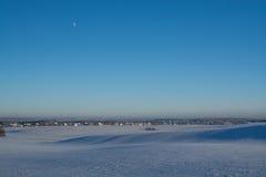 Styczeń 33c krajobrazu Rosji zima ural temperatury słoneczny dzień Zima spadek Jaskrawi kolory Prosty krajobraz Zimy lasowa lasow Obrazy Stock