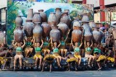 Styczeń 24th 2016 Iloilo, Filipiny Festiwal Dinagyang Unid Zdjęcia Stock