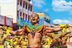 Styczeń 24th 2016 Iloilo, Filipiny Festiwal Dinagyang Unid fotografia royalty free