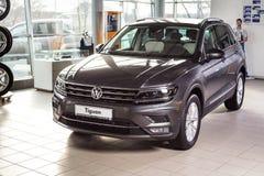 19 Styczeń, 2018 - Vinnitsa, Ukraina Volkswagen Tiguan pres Zdjęcia Stock