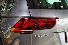 19 Styczeń, 2018 - Vinnitsa, Ukraina Volkswagen Tiguan pres Obrazy Stock