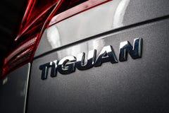 19 Styczeń, 2018 - Vinnitsa, Ukraina Volkswagen Tiguan pres Zdjęcia Royalty Free