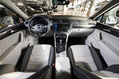 19 Styczeń, 2018 - Vinnitsa, Ukraina Volkswagen Tiguan pres Fotografia Royalty Free