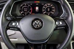 19 Styczeń, 2018 - Vinnitsa, Ukraina Volkswagen Tiguan pres Obraz Royalty Free