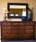 Styiish bedroom furniture arrangement stock photography