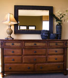 styiish della mobilia della camera da letto di disposizione Fotografia Stock