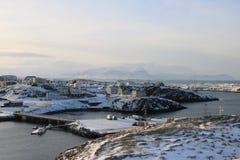 Stykkisholmur, Ισλανδία, χειμερινό πανόραμα Στοκ εικόνες με δικαίωμα ελεύθερης χρήσης