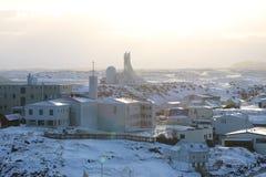 Stykkisholmur, Ισλανδία, χειμερινό πανόραμα Στοκ φωτογραφίες με δικαίωμα ελεύθερης χρήσης