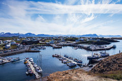 Stykkisholmur harbor - north Iceland Stock Photography