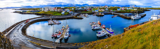 Stykkisholmur Harbor Stock Images