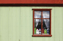 Stykkisholmur window Royalty Free Stock Photography