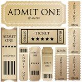 stylów różni bilety Obraz Royalty Free