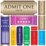 stylów różni bilety Zdjęcia Stock