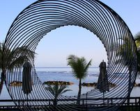 Stylów życia wizerunki Westin Turtal zatoki zdrój w Mauritius i kurort Zdjęcie Stock