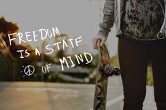 Styl życia myśli umysłu życia Pozytywny pojęcie Obrazy Stock