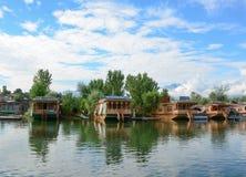 Styl życia w Dal jeziorze, Srinagar Obrazy Stock