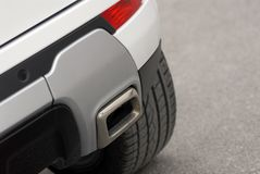 Styl car exhaust pipe. Exhaust pipe for a sporty SUV Royalty Free Stock Photography