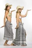 styl egipski dziewczynę dwa Fotografia Royalty Free