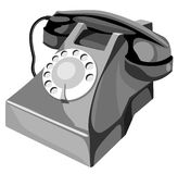 styl retro telefon ilustracji