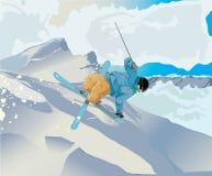 Styl wolny narciarka Obraz Stock