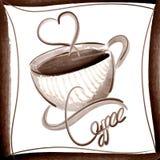 Style élégant d'aquarelle d'illustration de vecteur de café illustration de vecteur