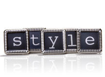 Style. The word style spelled out with elegant metal letters Stock Photo