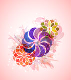 Style abstract floral background Stock Images
