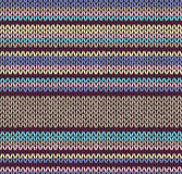 Style abstract seamless knitted pattern Royalty Free Stock Photos