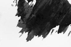 Style abstrait d'encre de fond de texture, noir et blanc photographie stock