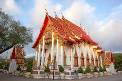 Style ancien de temple bouddhiste thaïlandais de la Thaïlande images libres de droits